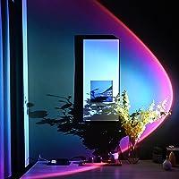 Zonsondergang Projectie Lamp Nachtlampje, 180 ° rotatie Romantische visuele vloerstandaard Led-zonsondergang licht…
