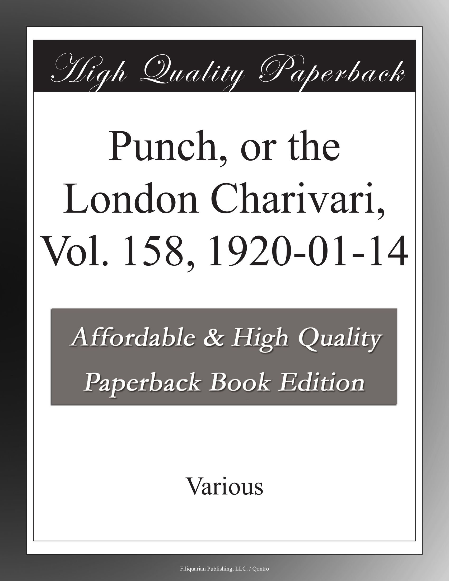Download Punch, or the London Charivari, Vol. 158, 1920-01-14 pdf