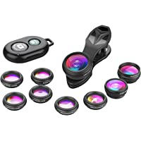 Apexel Phone Camera Lens-Macro Lens+Wide Lens+Fisheye Lens+Telephoto Lens+CPL/Flow/Radial/Star Filter+Kaleidoscope 3/6…