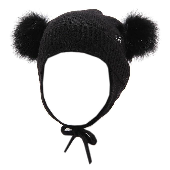 MONNALISA 6062V cuffia bimba wool synthetic black hat girl kid  S 42 CM    Amazon.it  Abbigliamento 29dbfcd14723