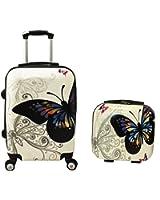 World Traveler 2 Piece Hardside Upright Spinner Luggage Set