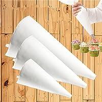 CFtrum 3 Piezas Manga pastelera de paño Reutilizables Manga pastelera DIY decoración de Pasteles Herramientas para