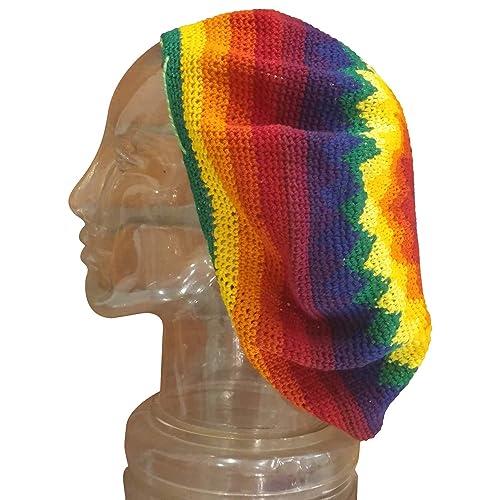 4e42ced28ba0a Amazon.com  EXTRA Large Tam Beret Slouchy Dread Loc Cap Beanie Hat ...