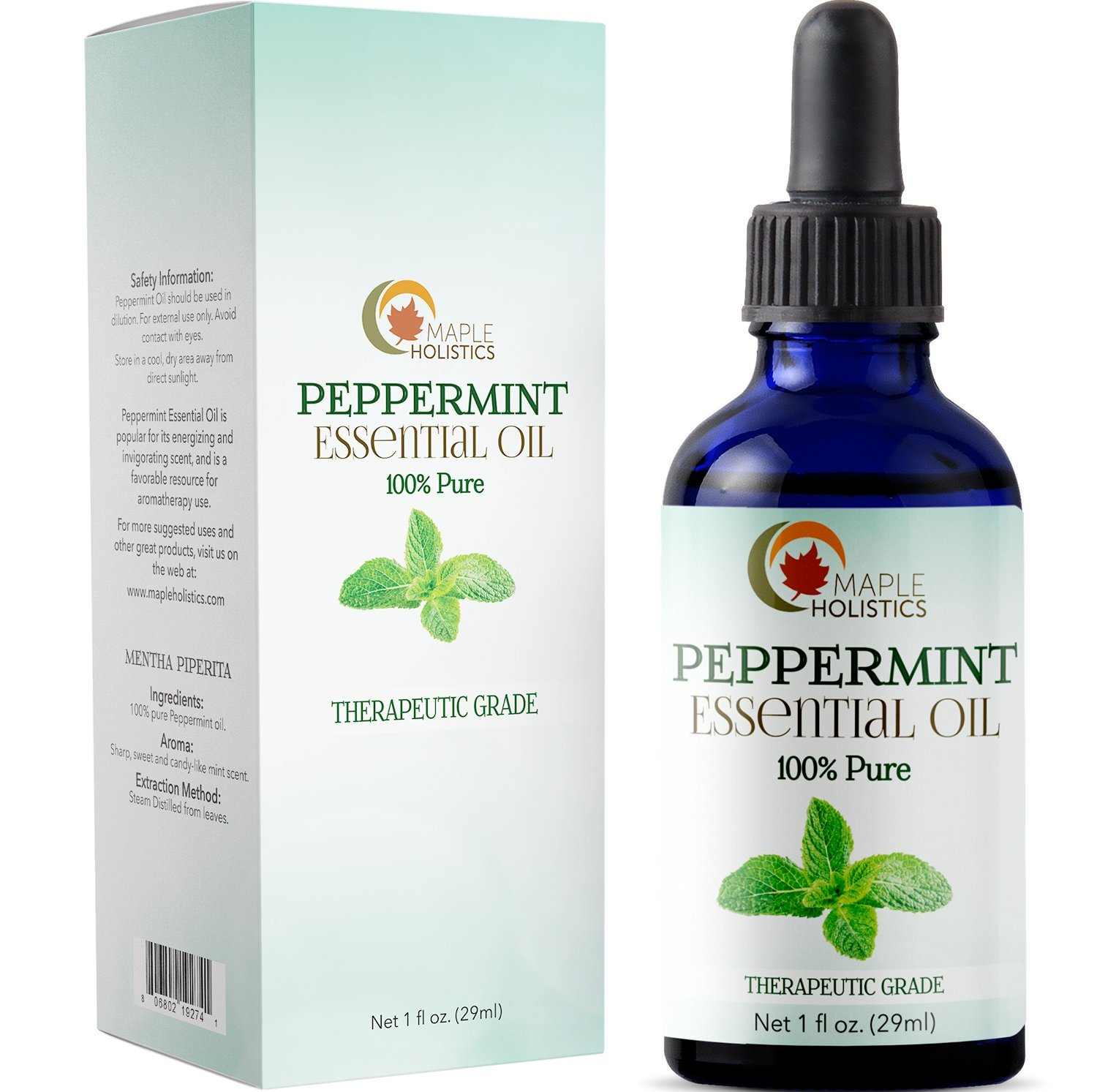 Pure Peppermint Essential Oil for Mice Undiluted Natural Mint Blend Air Freshener Radiant Skin Care Antioxidant Elixir to Clear Acne and Boost Hair Growth Aids in Aromatherapy Massage for Muscle Pain
