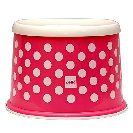f7572f4d4f5dac Cello Fusion Plastic Tuffy Stool, Pink: Amazon.in: Home & Kitchen