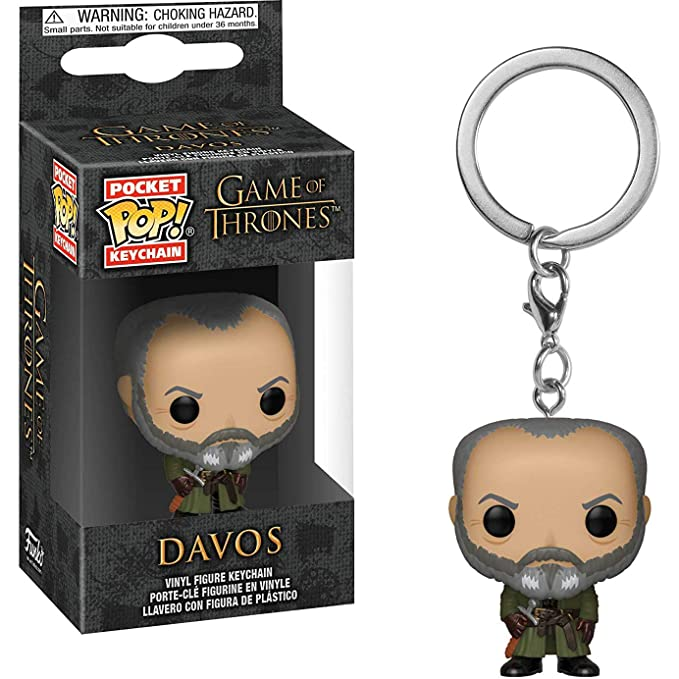Funko Davos: Game of Thrones x Pocket POP! Mini-Figural Keychain + 1 Official Game of Thrones Trading Card Bundle [37662]