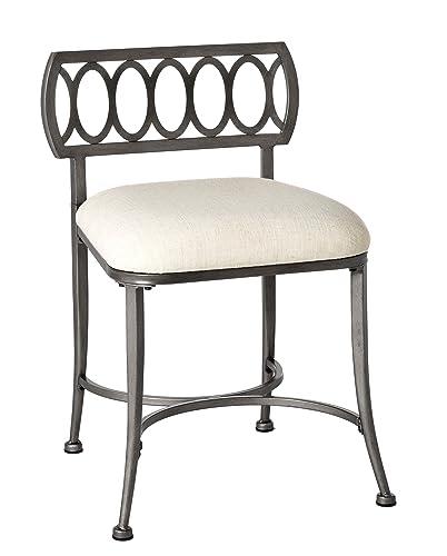 Hillsdale Furniture R51015 Canal Street Vanity Stool, Pewter