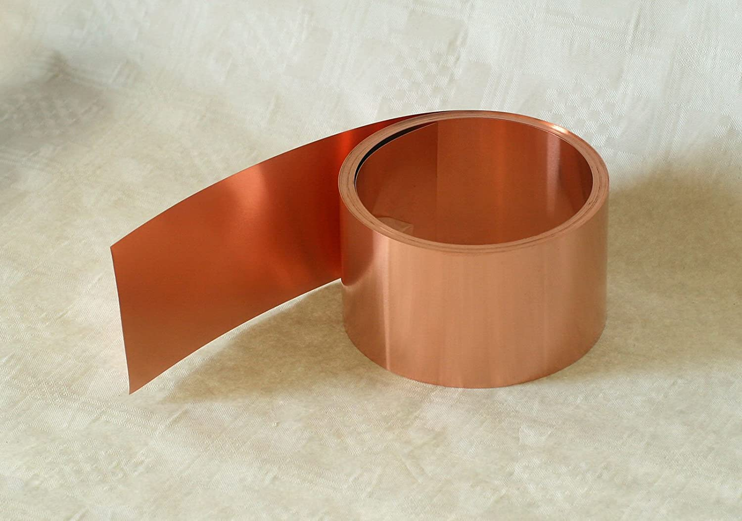 Copper tape 5  m roll, 0,1 mm x 40 mm, 1 Blechmaennle
