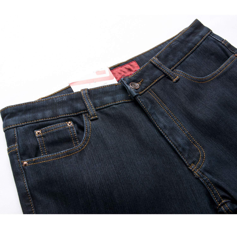 Mens Stretch Denim Jeans Thicken Warm Pants Slightly Flare Boot Cut Fit Polar Fleece