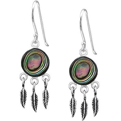 EYS Women's Earrings 925Sterling Silver Jewelry Jakobs Shell White 14* 7mm Swarovski Elements Crystal Earrings b188xMvohQ