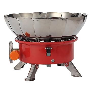 loriver plegable al aire libre portable Split cortavientos Lotus estufa de gas quemador de horno –