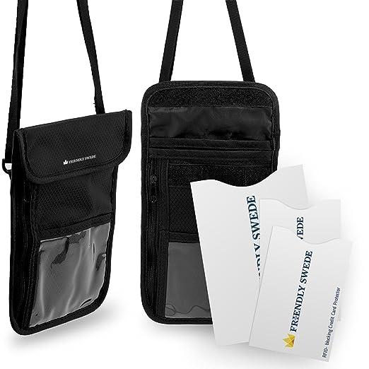 121 opinioni per The Friendly Swede Borsello Portadocumenti da Collo con Custodie Protettive RFID