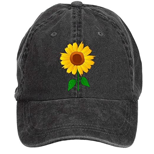 36ec92947cd68 NVJUI JUFOPL Sunflower Clipart Baseball Cap Adjustable Unisex Camping Hat  Black