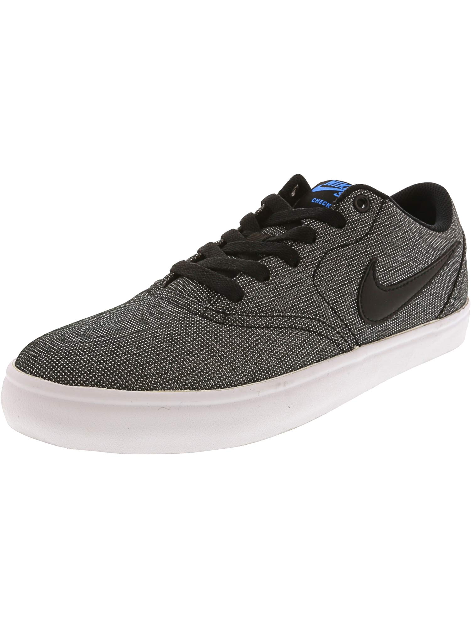 best service 0ca8a 92dc3 Galleon - Nike Men s SB Check Solar Canvas Skate Shoe, Grey Black Photo  Blue Black, 7.5 M US
