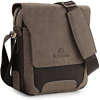 Koolertron Mens Canvas Synthesis Shoulder Bag Handbags Briefcase for The Office Messenger Bag to Hold Books,iPad