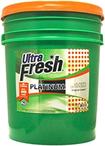 Ultra Fresh Platinum Original Green HE Liquid Laundry Detergent, 5 Gallons (640 oz) Concentrated Up to 640 Loads, Compares to Name Brand