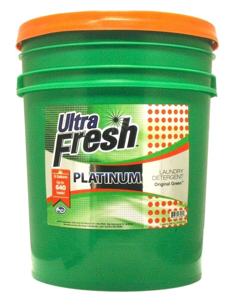 Ultra Fresh UFPGREGL Platinum Original Green Liquid Laundry Detergent, 5 gal, 640 oz. by Ultra Fresh