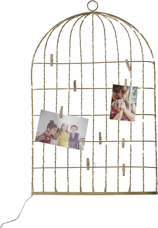 Vertbaudet P/êle-m/êle Lumineux Cage /à Oiseaux dor/é TU
