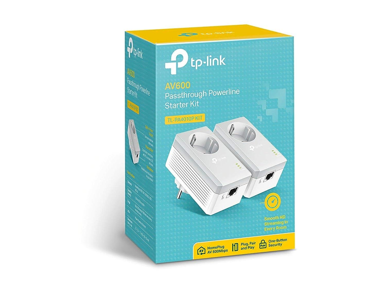 Reacondicionado PLC 2 Mini Adaptadores AV 600 Mbps, Extensor, Repetidores de Red, Amplificador Cobertura Internet, L/ínea El/éctrica, 2 Puerto, Enchufe Adicional TP-Link TL-PA4010PKIT