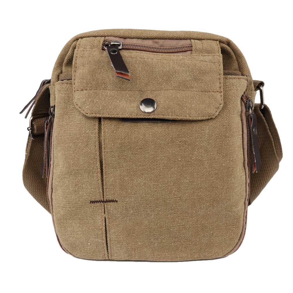Harwish Mens Multifunctional Canvas Messenger Handbag Outdoor Sports bag gray