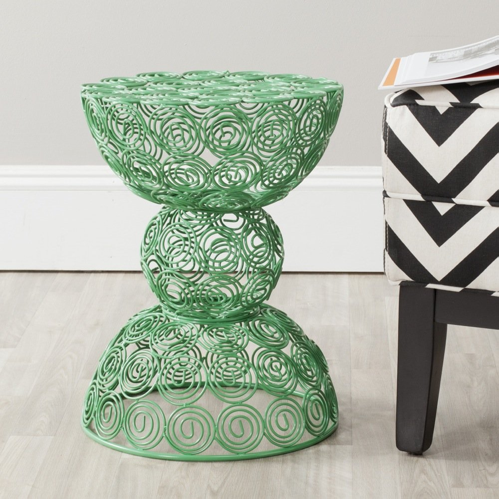 Safavieh Home Collection Lelia Green Wire Stool
