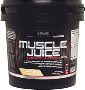Ultimate Nutrition Muscle Juice Revolution Weight and Lean Muscle Mass Gainer Protein Powder with Glutamine, Micellar Casein and Time Release Complex Carbohydrates, Vanilla, 11.1 Pounds