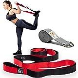 ZIN Stretching Strap- Yoga Strap Adjustable D-Ring Buckle. Yoga Stretching Strap with Loops. Yoga Stretch Strap for…