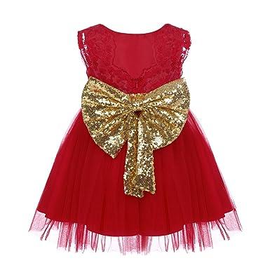 3bfbabd2dfcf7 Fille Robe Tutu de Princesse Grand Nœud Papillon Paillette Sequins sans  Manche Photographie Costume d