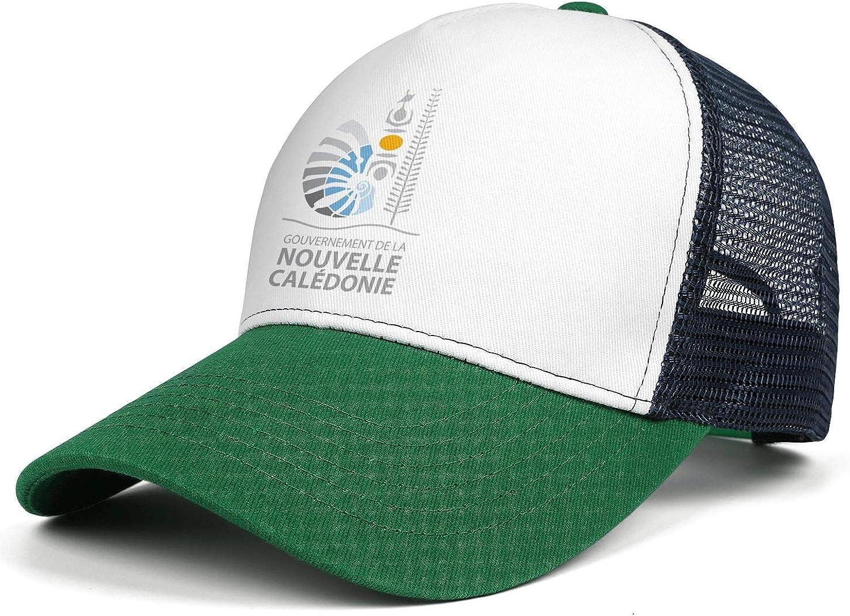 NNJA New Caledonia Emblem State Seal Unisex Flat One Size Casual Superlite Snapback Cap