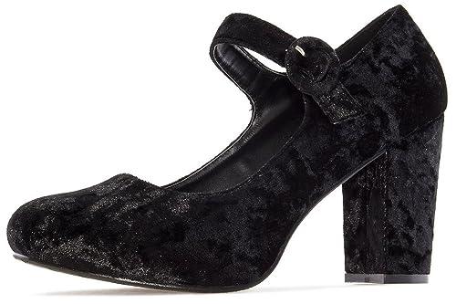 Zapatos rojos con hebilla Andres Machado para mujer eFlat