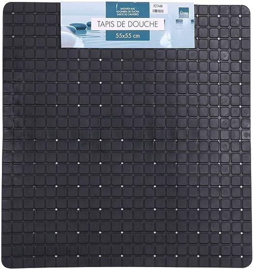 Alfombrilla de ducha antideslizante de PVC, 50 x 50 cm