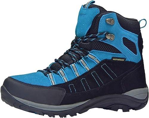 Homme Chaussures De Randonnée Marche Cheville Hi Tops Trail Noir Trekking Baskets Chaussures Taille