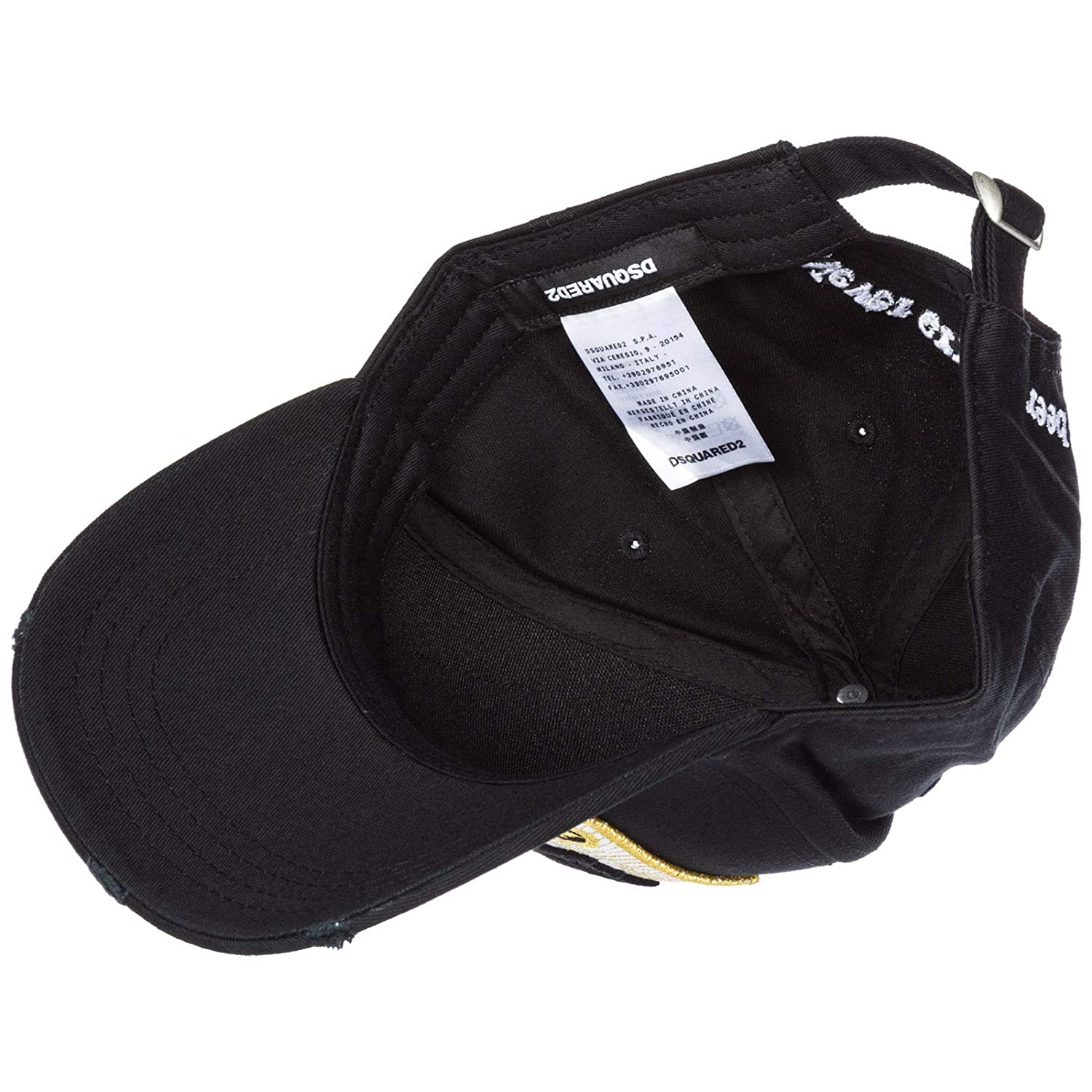 ca6d5a1bd8d52 Dsquared2 Men Canadian Brothers Baseball Cap Nero  Amazon.co.uk  Clothing