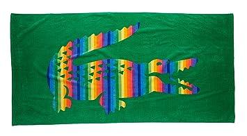 Lacoste Rainbow toalla de playa, verde