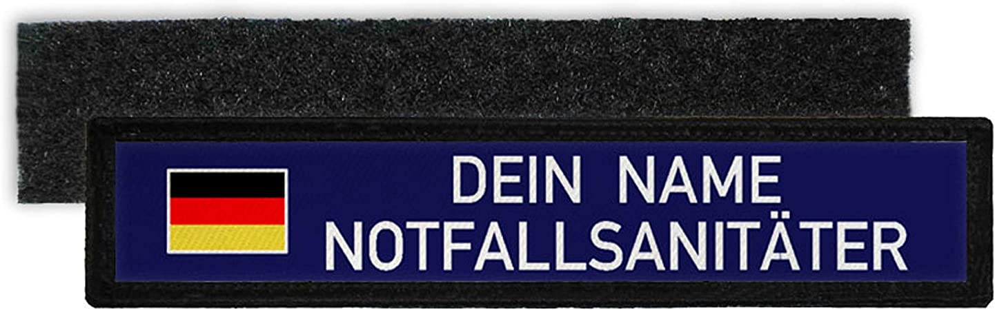 Copytec NotfallsanitÄter Namen Schild Patch Bundeswehr Sanitäter Deutschland 31652 Küche Haushalt