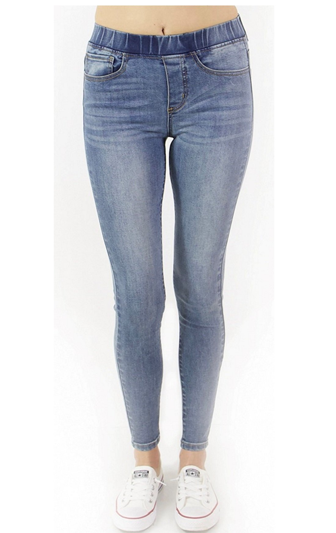 Grace and Lace Women's Classic Mid-Rise Pull on Jeggings (Medium)