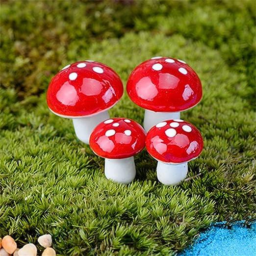 Floralby Kit de Jardín de Hadas, 20 Piezas de Miniatura Setas de Hadas, Decoración Bonsai: Amazon.es: Jardín