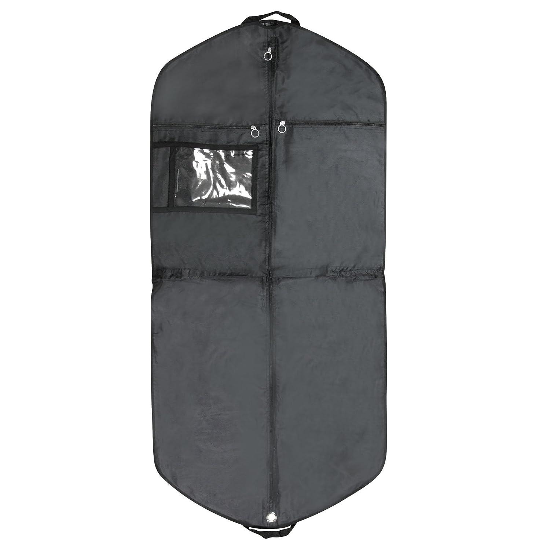 Hangerworld - Reise Kleidersack aus Nylon mit Tragegriffen und Druckknöpfen, 3 Stück - Schwarz - 137cm