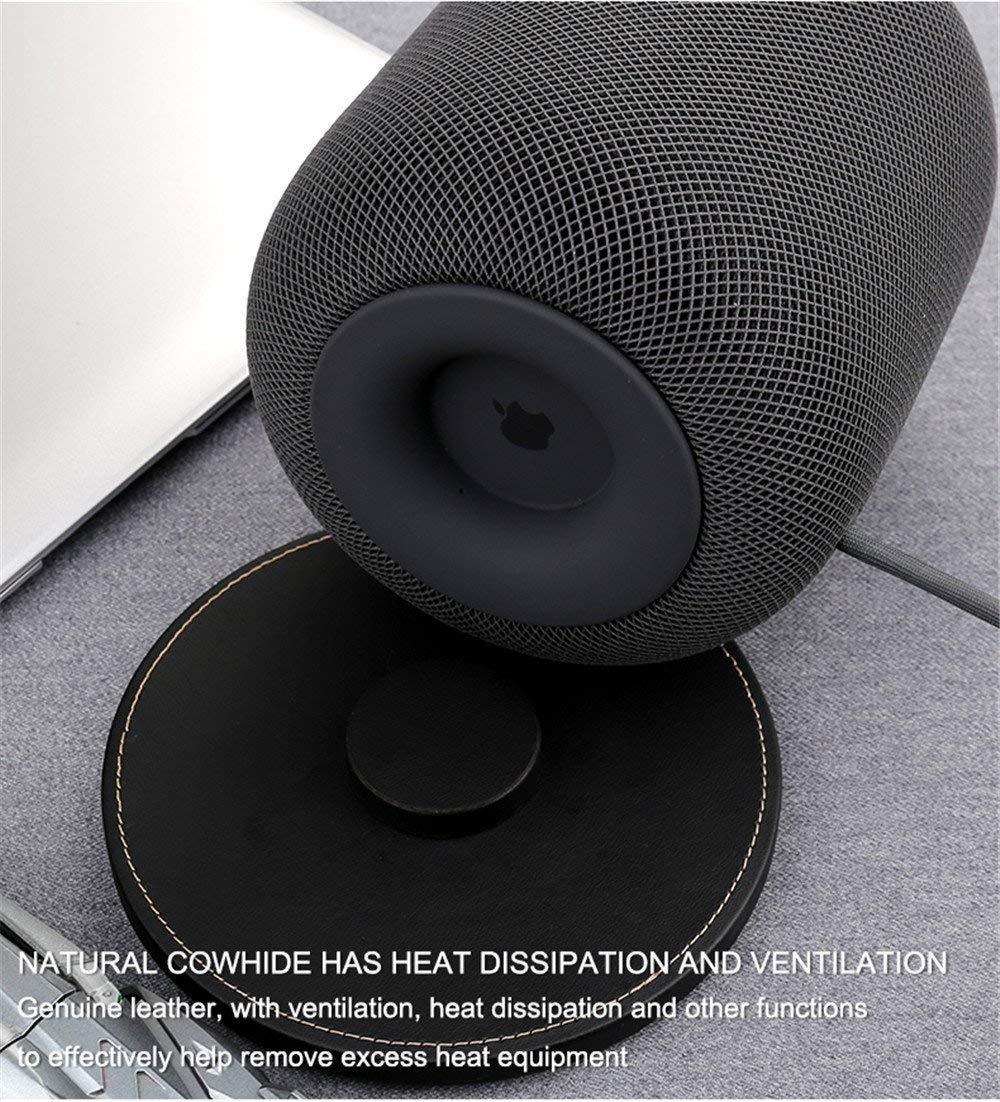 Noir Base Stand for Homepod Speaker Luxacury Housse de Protection avec Coque en Silicone antid/érapant Pad Mat pour Apple Homepod Accessoires Homepod Tapis de Support avec Homepod Coque
