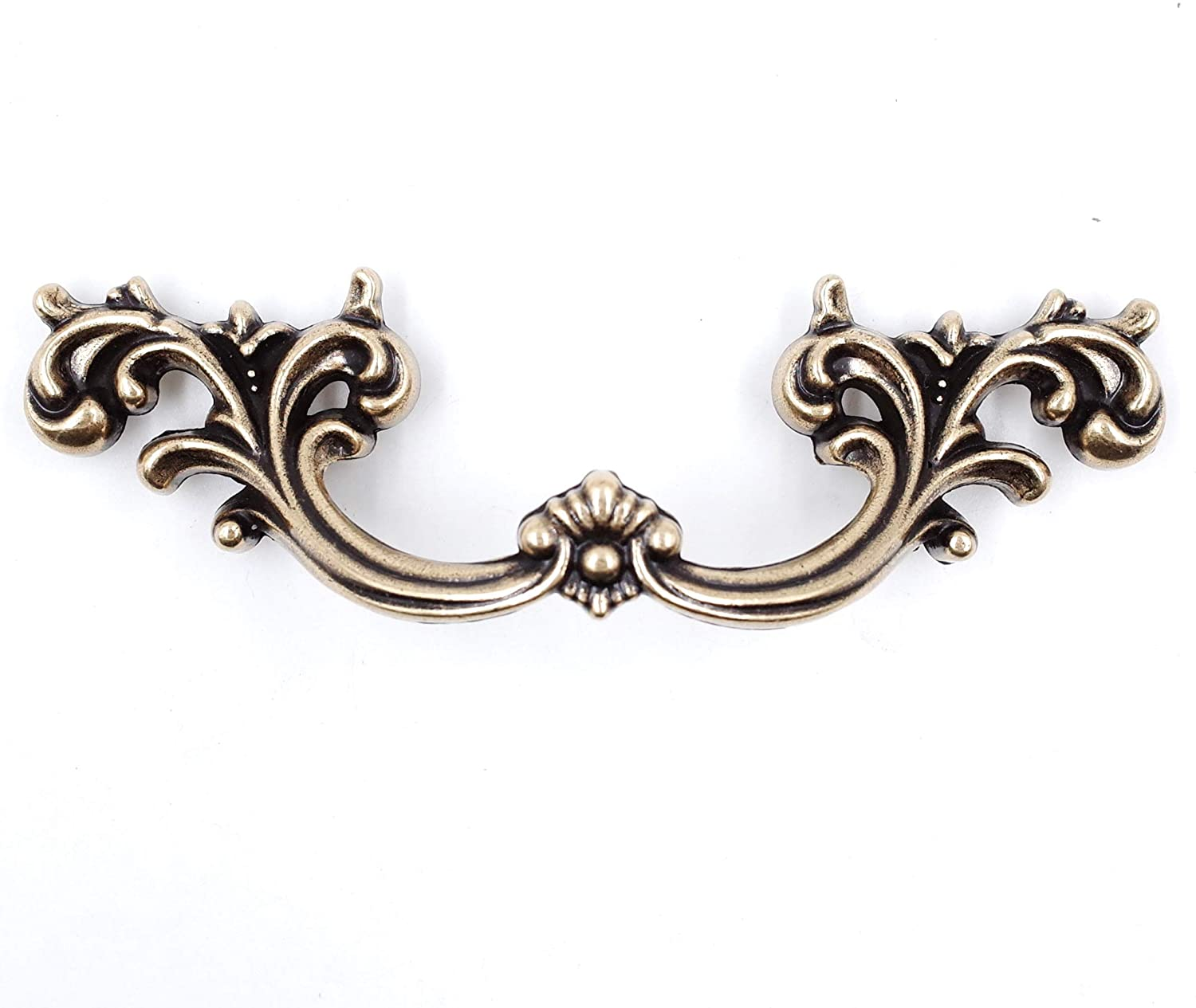 6-Pack French Provincial Drawer Pulls - Antique Brass, 2-1/2