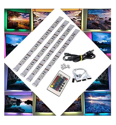 Brtlx Led Tv Retroeclairage Bande Kit D Eclairage 4 50cm Pour Hdtv Cinema Maison Accent Eclairage Usb Alimente Rgb 5050 Smd Multicolore Avec