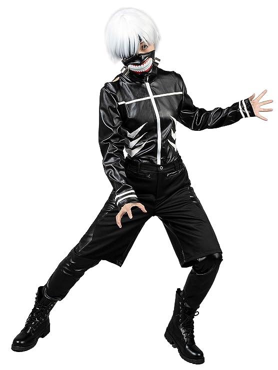 Amazon.com: Cosfun Tokyo Ghoul - Disfraz de Ken Kaneki de la ...