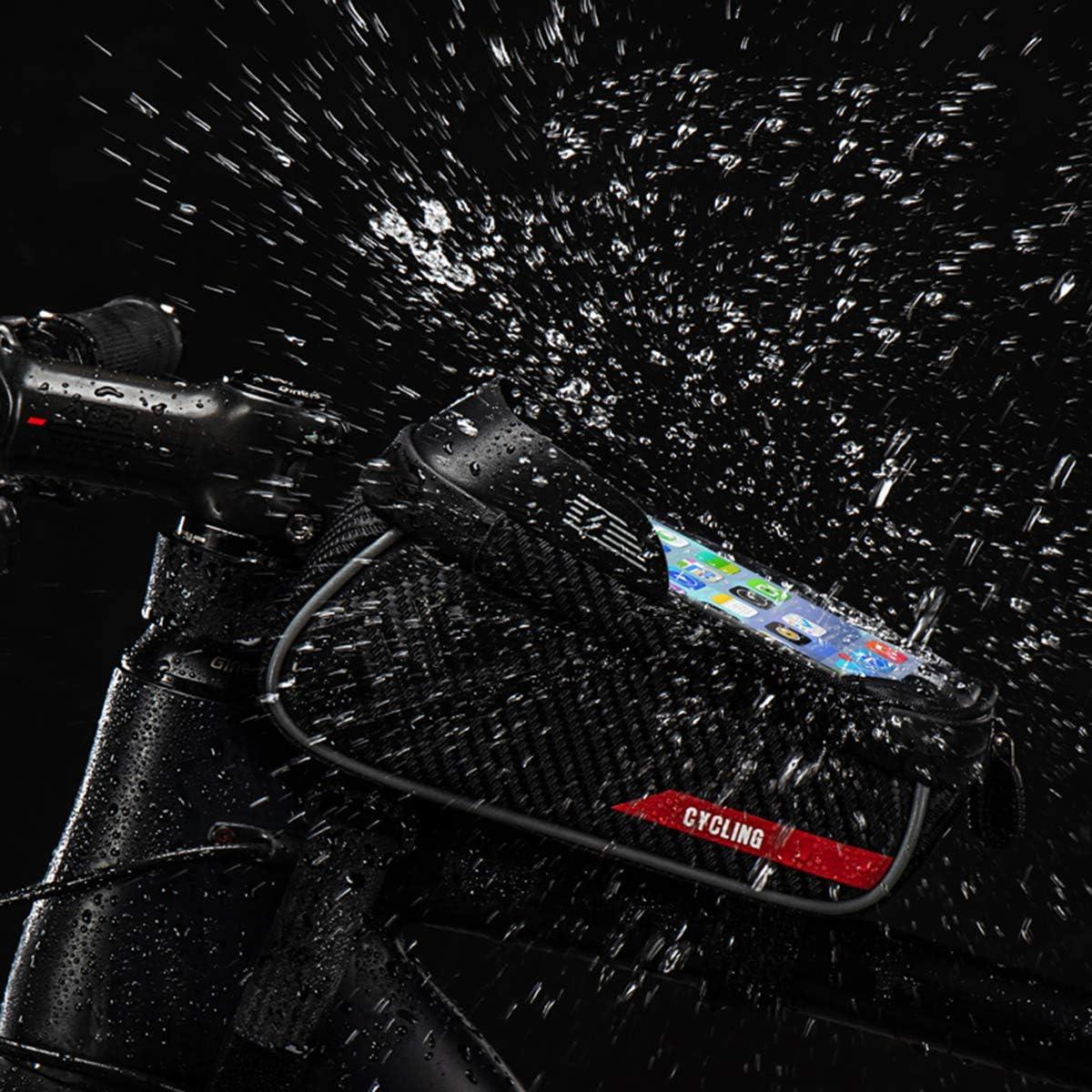 Bolsa impermeable para bicicleta con pantalla t/áctil para tel/éfono de monta/ña HelloCreate