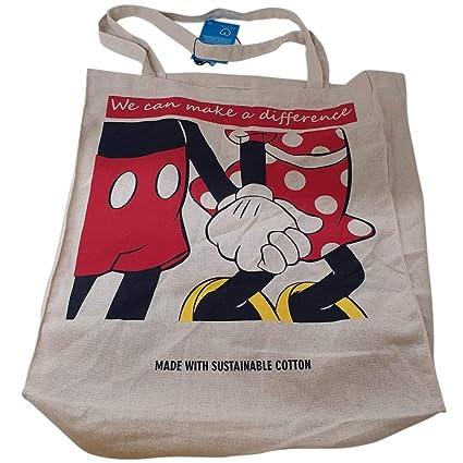 Disney Mickey-Minnie Bolsa Mujer Chica Compras Reutilizable ...
