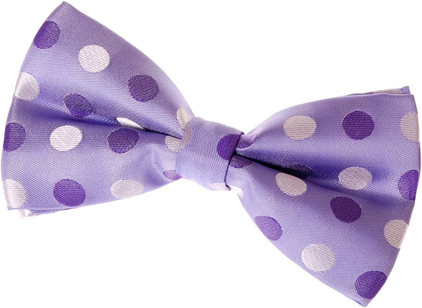 Retreez Dots and Check Pattern Woven Pre-tied Bow Tie 5 Various Colors
