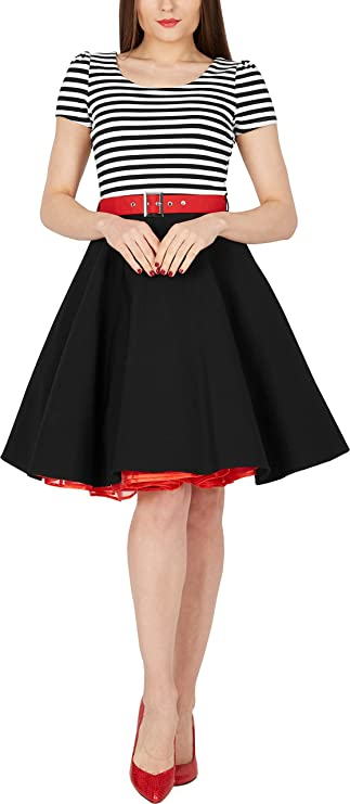BlackButterfly Maria Vestido de Rayas Vintage Pin-up: Amazon.es ...