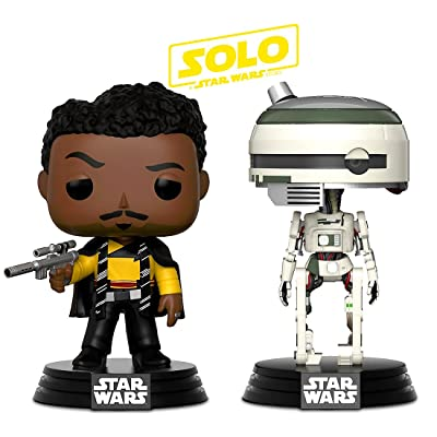 Funko POP! Disney Solo A Star Wars Movie: Lando Calrissian and L3-37 Bobble-Head Toy Action Figure - 2 POP BUNDLE: Toys & Games