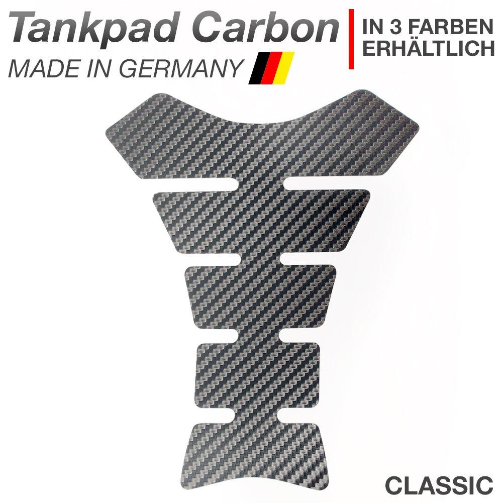 Tankpad 3D 500652 Carbonlook Carbon Braun Tank-Schutz f/ür Motorrad-Tank