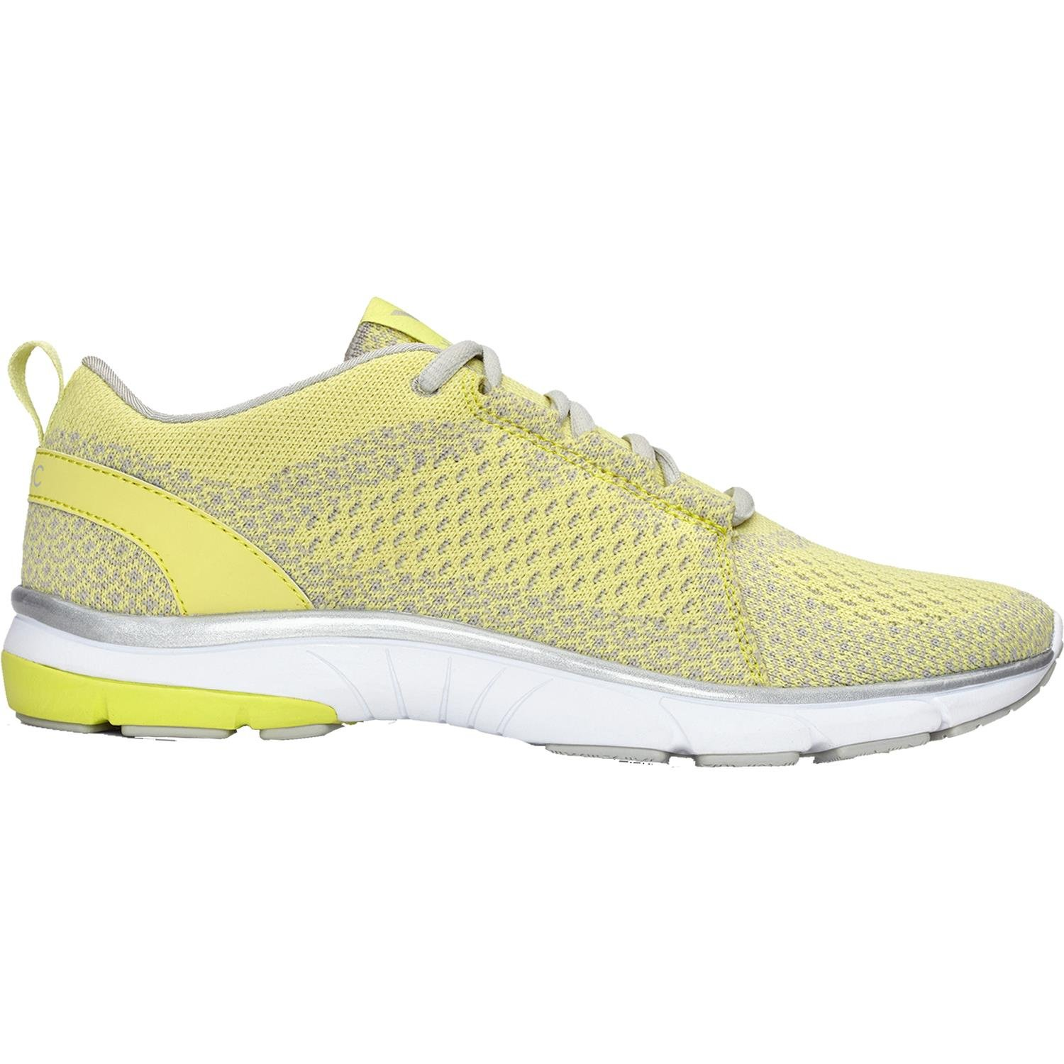 Vionic Womens Flex Sierra Lace Up Sneaker Yellow Size 9 Wide
