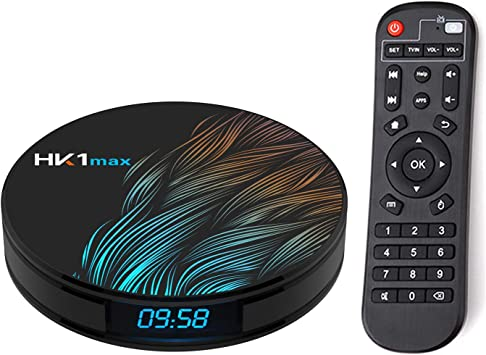 Xilibod Android TV Box 9.0 HK1 MAX 4GB RAM 64GB ROM RK3318 5.8G/2.4G WiFi with Bluetooth 3D 4K 1080P Smart TV Box: Amazon.es: Electrónica